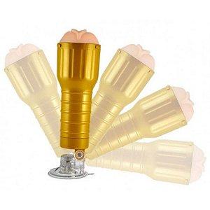Masturbador vagina em cyberskin em formato de lanterna com ventosa - Sexshop