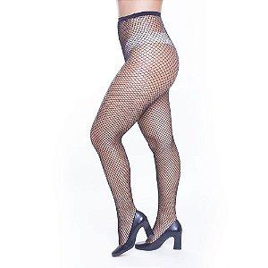 Meia Calça Arrastão Preta PerruTextil - Sex shop