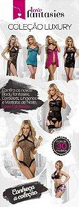 Meia Fina Arrastão Preta - Sex shop