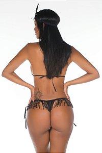 Mini Fantasia Melindrosa Preto Pimenta Sexy - Sex shop