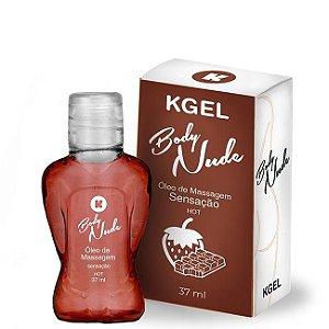 Óleo de Massagem Body Nudes Kgel Hot Sensação 37ml - Sexshop