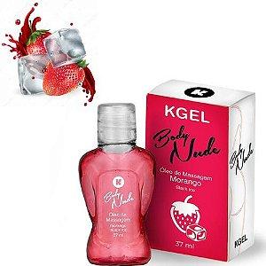 Óleo de Massagem Body Nudes Kgel Ice Morango 37ml - Sexshop