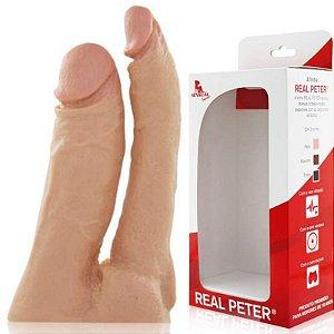 Pênis Duplo Real Peter - Penetração Dupla - Sex Shop