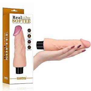 """Pênis Real 7.0"""" com Vibrador - Lovetoy - Sexshop"""