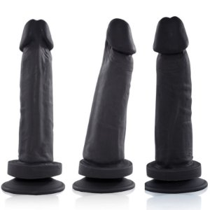 Pênis Real Peter com ventosa Exclusivo 17x4cm Preto - Sex shop