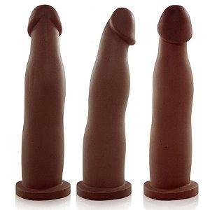 Pênis Real Peter FIT Marrom 17,4x2,5cm - Sexshop