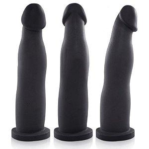Pênis Real Peter FIT Preto 17,4x2,5cm - Sexshop