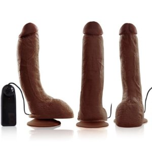 Pênis Real Peter Rambo Marrom Vibrador - 5x23cm - Sex Shop