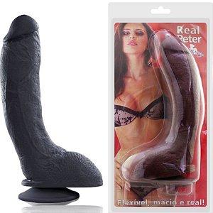 Pênis Real Peter Rambo Preto e Grosso - 5x23 cm - Sex Shop