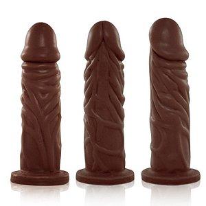Pênis Real Peter Realístico com Cinta Enrugado Marrom - 14x3,8cm - Sex Shop