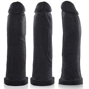 Pênis Real Peter Taurus Preto 19x4,5cm - Sexshop