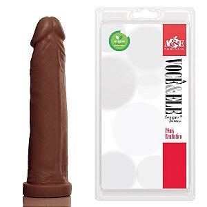 Pênis Realístico Prótese 10 Marrom - Sexshop