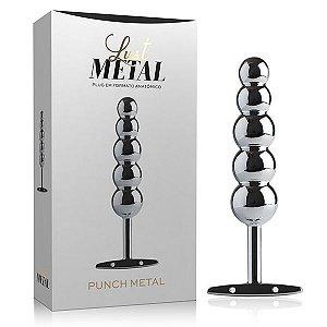 Plug Anal Bolinhas Lust Metal - Plug Punch Metal Silver - Sex shop
