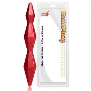 Plug Anal Diamond 18cm na cor Vermelha - Sex shop