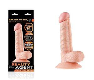 Reality Agent - Pênis Realístico 15cm com Ventosa - Sex shop