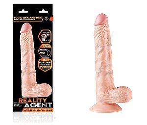 Reality Agent - Pênis Realístico 23cm com Ventosa Livre - Sex shop