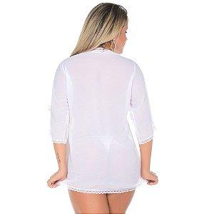Robe Sensual Felina Pimenta Sexy Branca - Sexshop