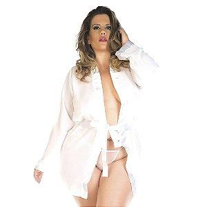 Robe Sensual Plus Size Romântico Branco Pimenta Sexy - Sexshop