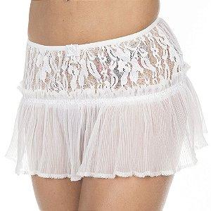 Sainha Drapy Branca Pimenta Sexy - Saia Sexy