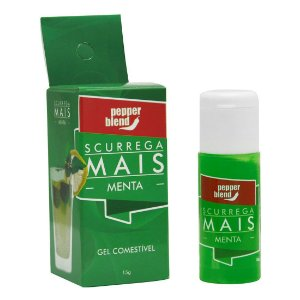 Scurrega Mais Gel comestível MENTA 15g Pepper Blend - Sex shop