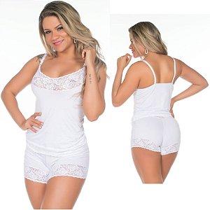 Short Doll Fabia Branco Pimenta Sexy - Dormir Sexy