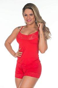 Short Doll Fabia Vermelho Pimenta Sexy - Sexshop