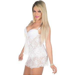 Short Doll Rendado Branca Pimenta Sexy - Sexshop