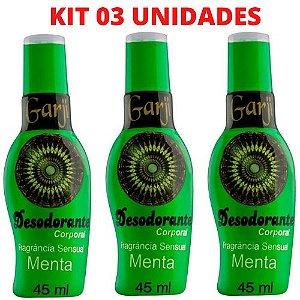 kit 03 Desodorante intimo Aromático Menta 45ml Garji – Sex shop