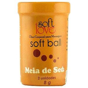 SoftBall Bolinha Meia de Seda Drink 2 unidades SoftLove - Sexshop