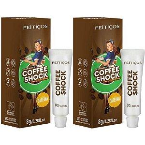 Kit 02 Gel Eletrizante Coffee Shock AROMÁTICO 8 G FEITIÇOS - Sexshop