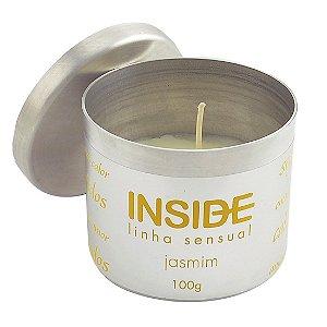 Vela Aromática Hidratante Sensual JASMIM 100G Inside - Sex shop