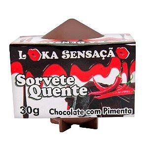 Vela Comestível Sorvete Quente Loka Sensação Chocolate com pimenta - Sexshop