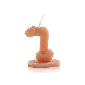 Vela Nº7 para brincadeiras no formato de Pênis - Sexshop