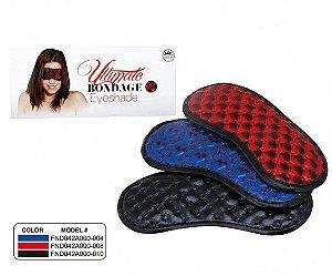 Venda com acabamento brilhante e tiras elásticas - ULTIMATE BONDAGE EYESHADE RED - NANMA - Sexshop