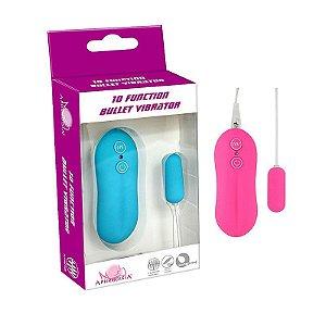 Vibrador Bullet com Controle Remoto - Pink 10 Modos de Vibração