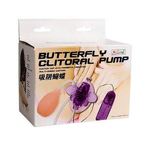 Vibrador Clitoriano Borboleta com Vibrador e Sução - Sexshop