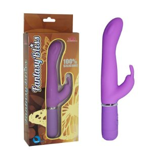 Vibrador ponto G com 10 vibrações e estimulador clitoriano - Sexshop
