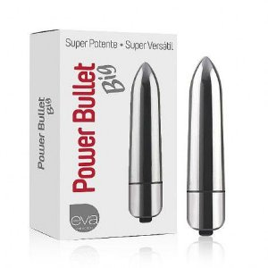 Vibrador Power Bullet Big Prateado - Sexshop