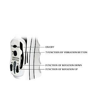 Vibrador Rotativo com 7 Vibrações e Estimulador Vibratório Coelho - ALICE - Sex shop