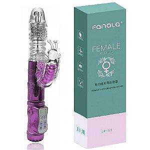 Vibrador Rotativo Vai e Vem com Estimulador Clitoriano Borboleta Recarregável com 36 Variações de Vibração - Sex shop