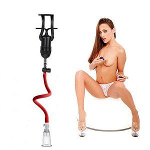 Estimulador Clitoriano e Mamilos de Sucção com Gatilho - Lovetoys - Sexshop