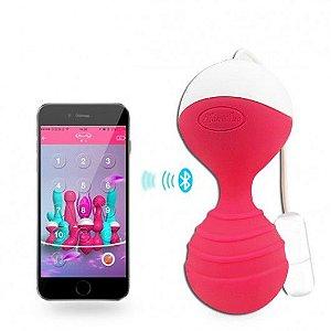 Bolinha de Pompoar com Vibrador controle via App e Celular - Monie - Sexshop