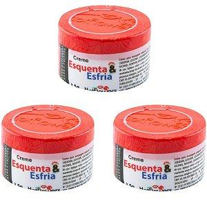 Kit 03 Cremes Esquenta e Esfria Creme Funcional 3,5 HotFlowers - Sexshop
