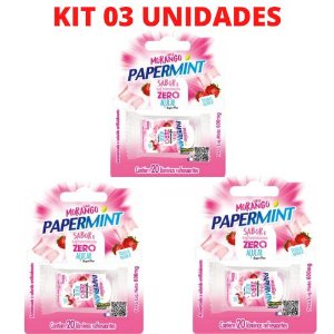 KIT 03 Lâmina Paper Mint Sabor Morango Danilla - Sexo Oral Refrescante