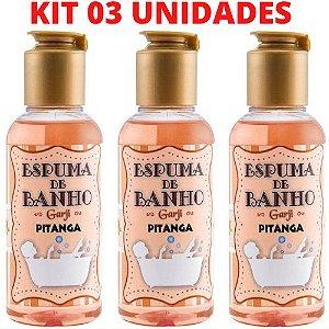 KIT 03 Espuma de Banho Aromática 120 ML Pitanga - GARJI