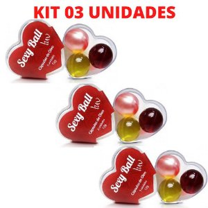 KIT 03 Bolinhas Excitantes Sexy Ball LUV C/3 Unid - Sexy Fantasy