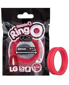 Anel Peniano De Silicone Vermelho - Ringo Pro LG - Screaming O