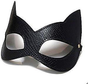 Máscara Kitten Gato Em Couro Python - Secret Play