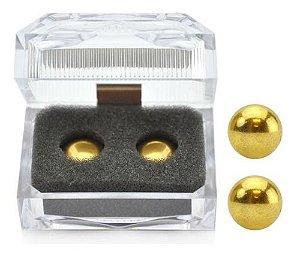 Bolas Para Pompoarismo Aço Inox Douradas - Oriental Gold Ball