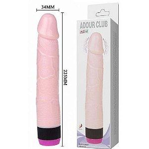 Pênis Super com Vibrador 22,5x3,4 cm - Silicone Macio